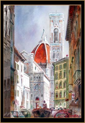 The Duomo - Watercolor of Florence, Italy